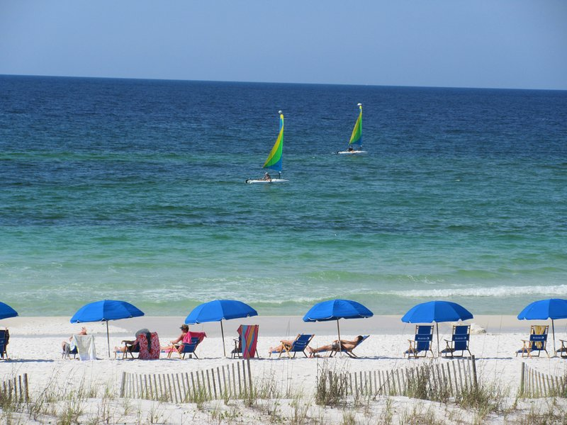 Beach View from 3rd floor balcony. - Beautiful View* Beach Front Condo at Pelican Isle #307 - Fort Walton Beach - rentals