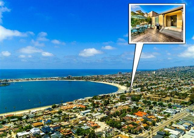 """Steps to bay and a short walk or ride to beach.  Come experience this """"riviera jewel"""". - June Discounts! - Steps to Bay -Peek Ocean View from Porch - Family Friendly - San Diego - rentals"""