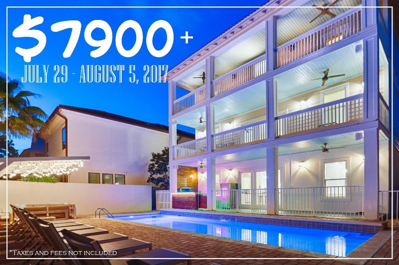 $7900+ JULY 29 - AUGUST 5, 2017! - $7900+ JULY 29 - AUG 5 Olympia: Renovated, Pool, Outdoor Kitchen, Near Beach! - Miramar Beach - rentals