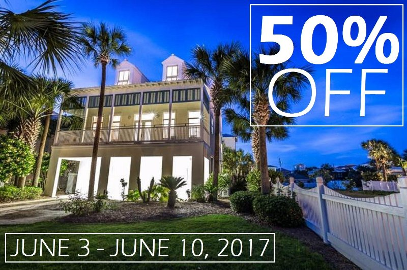 CALL US TODAY OR RESERVE ONLINE USING PROMO CODE: 50JUNE17 - 50% OFF JUNE 3-10, 2017 Frangista Jewel: BEACH DIRECTLY ACROSS! w/ Pool & Spa! - Destin - rentals