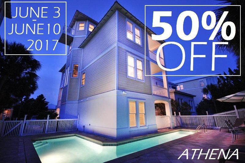 CALL US TODAY OR RESERVE ONLINE USING PROMO CODE: 50JUNE17 - 50% OFF JUNE 3-10, 2017 ATHENA: Private & Community Pool, Beach 1 Min Walk! - Miramar Beach - rentals