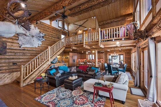 Living Room - Mountain High Chalet - 3BR Quintessential Mountain Cabin DeLuxe - Steamboat Springs - rentals