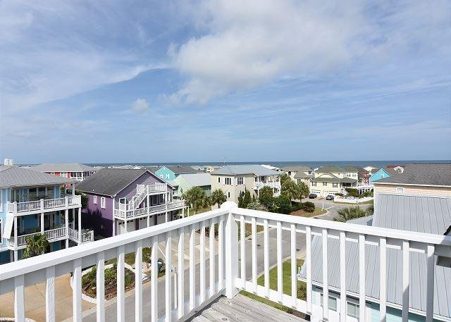 Summer Winds - Ocean View Deck - Summer Winds -  Nicely appointed ocean view home with community beach access - Kure Beach - rentals