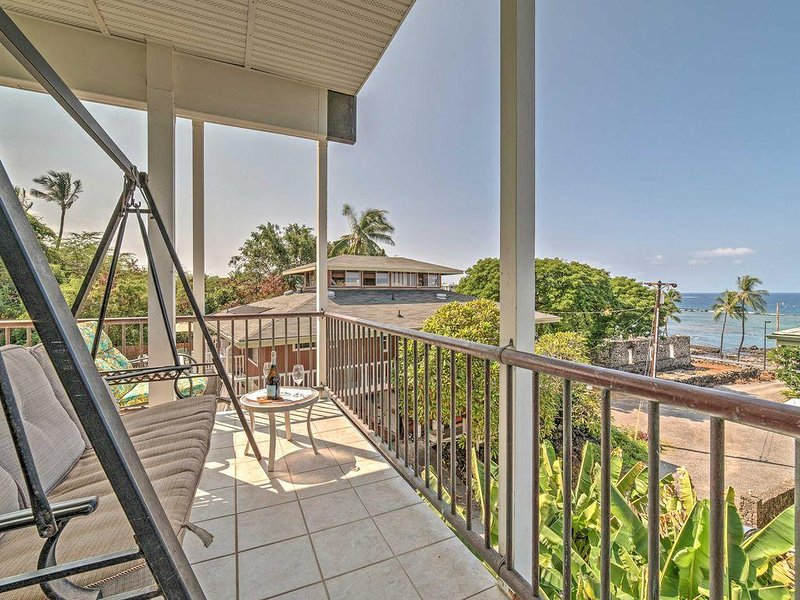 Breathtaking ocean views - Kahalu'u Beach Holmes- Beach Across the Street! - Kailua-Kona - rentals