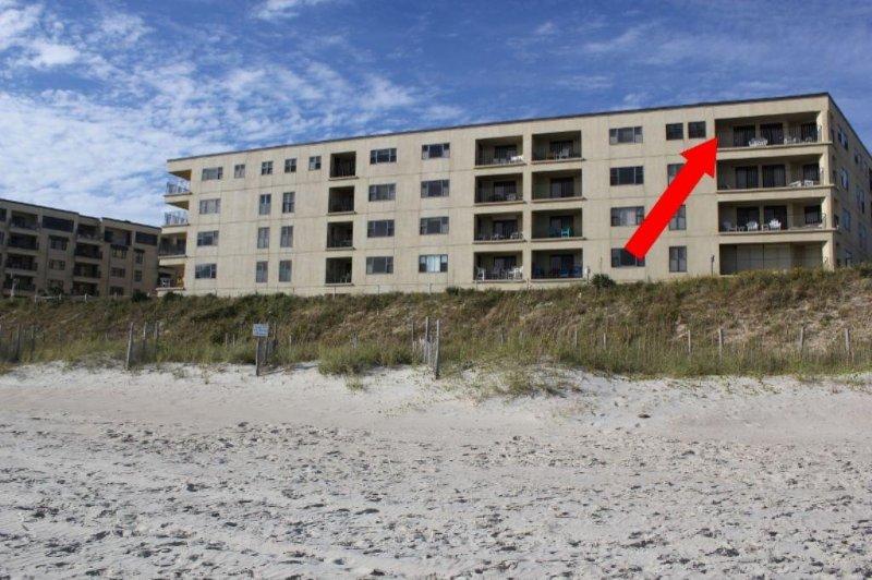 Exterior End Unit - Summer Winds Unit 505A - Indian Beach - rentals