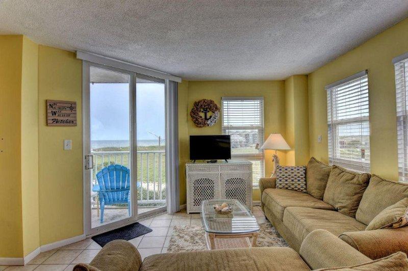 Living Room - St. Regis 1201 Oceanfront!    Indoor Pool, Outdoor Pool, Hot Tub, Tennis - North Topsail Beach - rentals