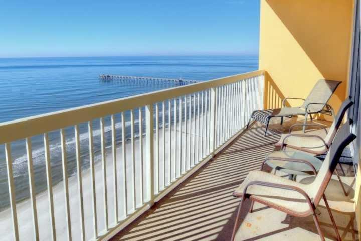 Beautiful Views from our spacious balcony. - 1 1802 Calypso Beach Towers Tower I - Panama City Beach - rentals