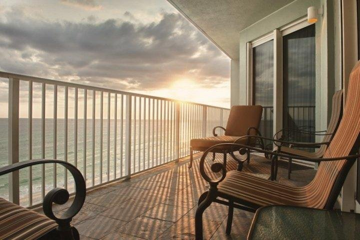 Sunset from this beautiful 7th floor unit! - 704 Marisol - Panama City Beach - rentals