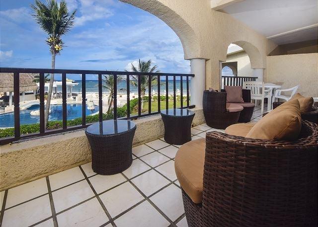 Double Balcony! Oceanfront 2 bedroom in Xaman Ha (XH7103) - Image 1 - Playa del Carmen - rentals