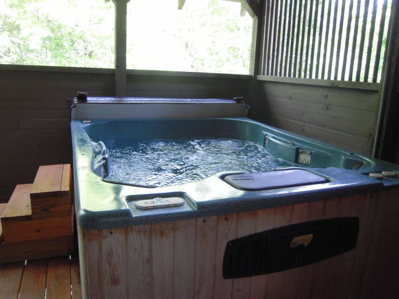 Large HOT TUB for relaxing on your vacation - Faith log cabin with free Wi-Fi close to Dollywood Pet friendly - Pigeon Forge - rentals