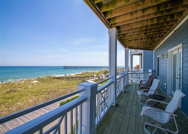 KB Villa C8 Oceanfront Deck - KB Villa C8 -  Oceanfront condo with unobstructed views, Jacuzzi and more - Kure Beach - rentals