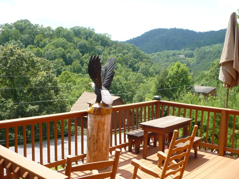 Beautiful Views of the Foothills of the Smoky Mountains from this deck - Eagles Purch close to Dollywood with free Wi-Fi - Pigeon Forge - rentals