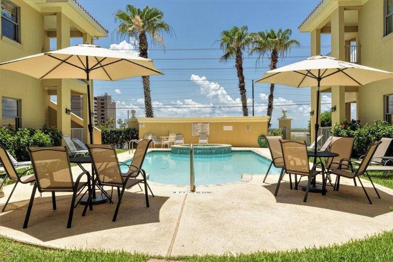 Expands for FAMILIES with one next door!!  Poolside condo in gated complex! - Image 1 - South Padre Island - rentals
