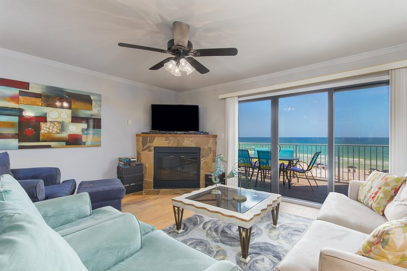 Living area partial view - Newly Reduced Rates Limited Time Gorgeous Beach Front Home 4bedrroms/3baths - Destin - rentals