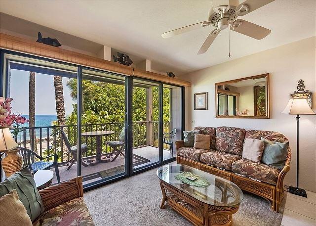 Welcome to Direct oceanfront 2nd floor corner unit, Kona Isle#D21!!  - DIRECT OCEANFRONT, Corner 2nd Floor Unit, Kona Isle D21 - Kailua-Kona - rentals