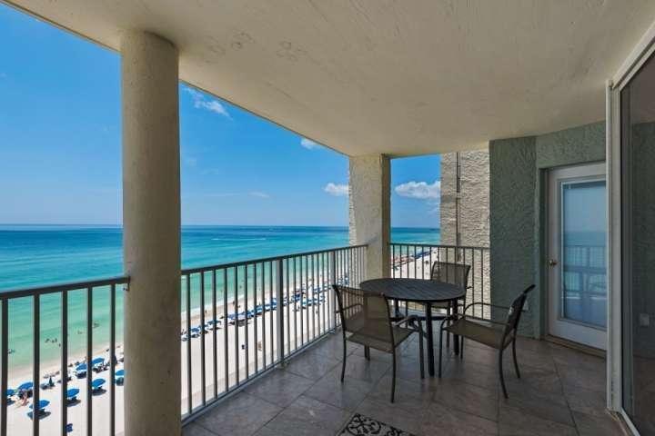 Stunning views from this spacious balcony! - 903 Long Beach Resort Tower III - Panama City Beach - rentals
