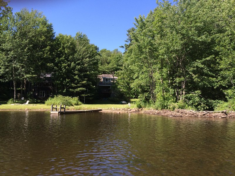 View of House from the Lake - Serene Lakefront Cottage - Becket - rentals