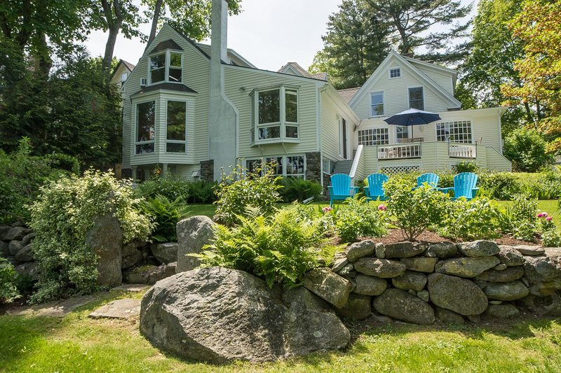 Back of house and gardens - Lovely Chestnut House; 3 Blocks From Downtown - Camden - rentals