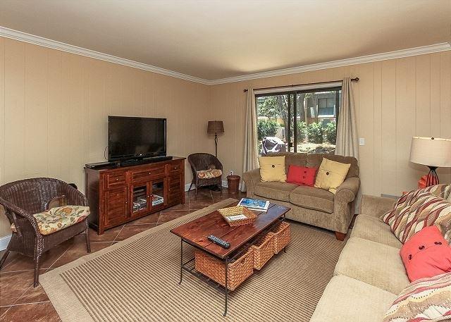 Living Area - 27 Ocean Club- Oceanfront Complex - Hilton Head - rentals