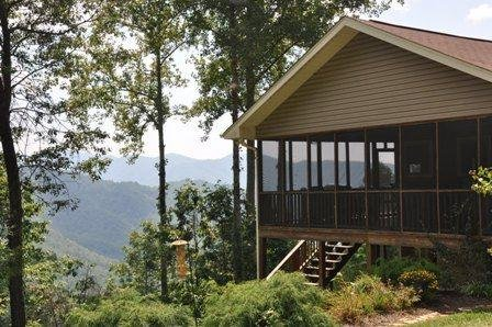 Eagles Ridge Cabin - Mountainside Retreat with Hot Tub, Fire Pit, and View - 20 - Image 1 - Bryson City - rentals
