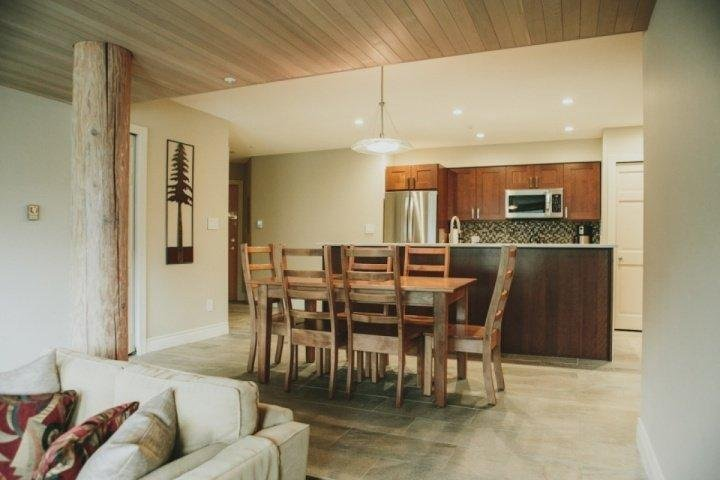 High end finishings, view from Living room up to kitchen - Ironwood Unit 203 - Whistler - rentals