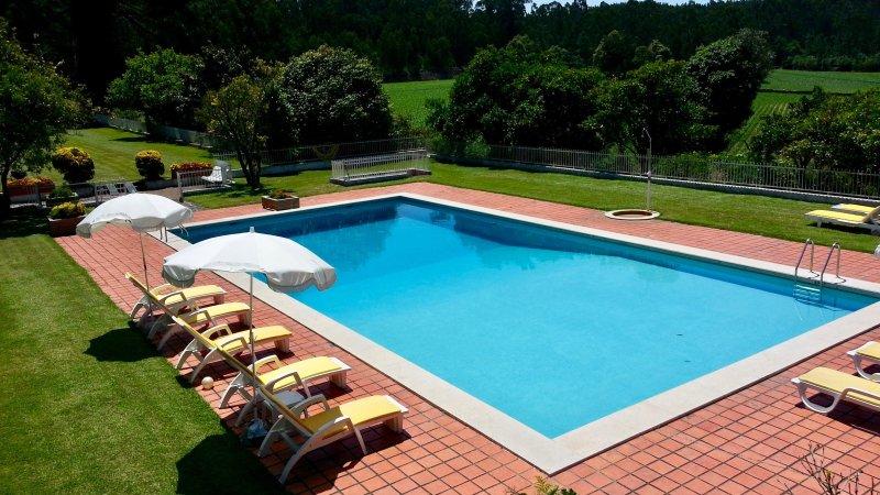 Big Swimming Pool 18m x 8m - Casa D'Quinta: pool, tennis court, gardens - Vila do Conde - rentals