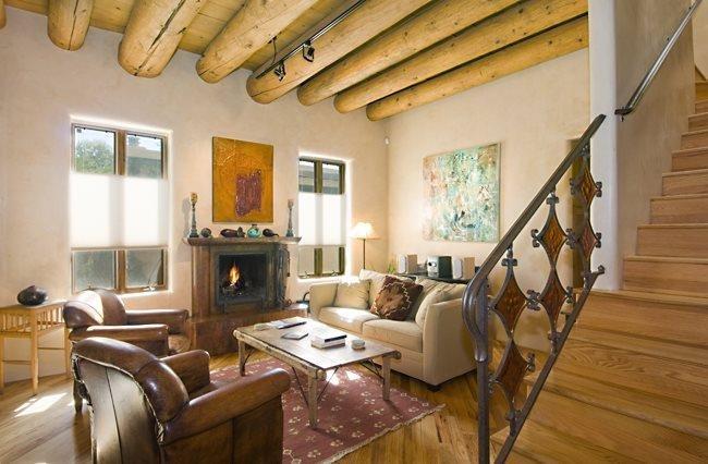 Living Room - Adobe Destinations - Dancing Sun - Santa Fe - rentals