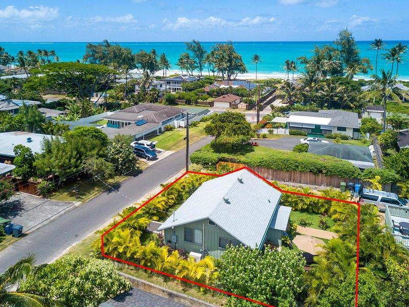 "Hawaiian Beach Cottage - $225/NT 8/25-9/10~ Ocean View Beach Cottage~Hot Tub~Steps to Amazing Beach"" - Waimanalo - rentals"
