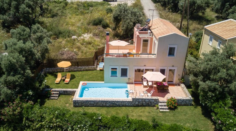 Peaceful villa with pool and magic view in Crete - Image 1 - Agia Paraskevi - rentals