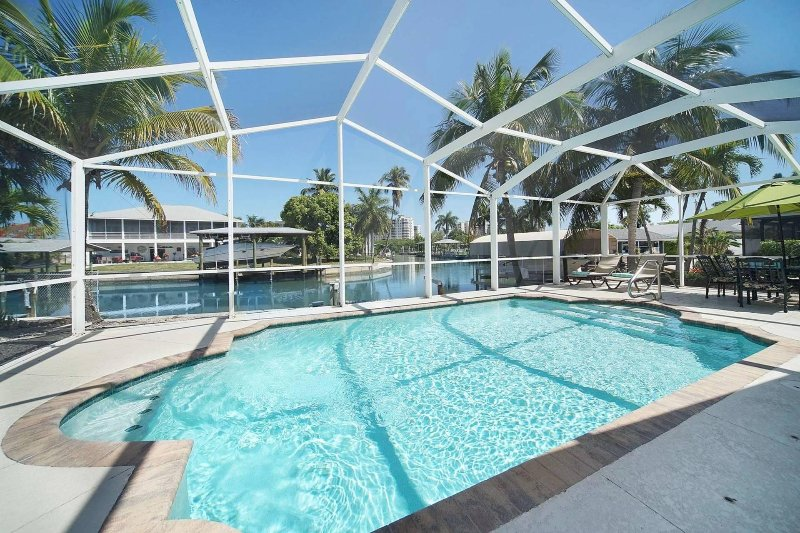 *** Beautiful Waterfront Home with Private Pool & Dock *** - Image 1 - Fort Myers Beach - rentals