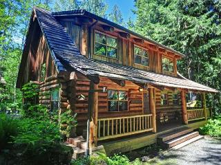Bear Den Log Cabin - Creekside, Fireplace, Dogs OK - Welches vacation rentals