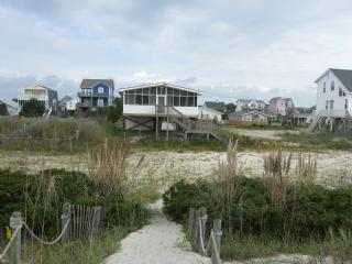 View from beach access - The Breakers - Oak Island - rentals
