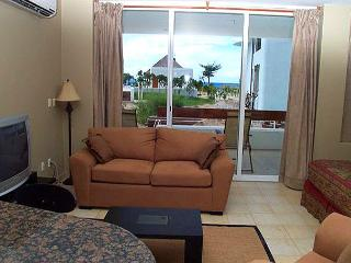 Large Studio, Beachfront San Francisco Beach. Free phone, hi speed internet - Cozumel vacation rentals