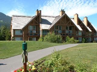 Great location with patio out to 1st tee of Chateau Whistler Golf Course - Whistler vacation rentals