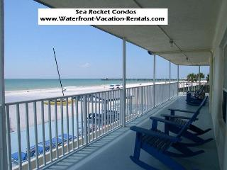 Sea Rocket #10 -  Beach front building, ground floor condo with Gulf view - North Redington Beach vacation rentals