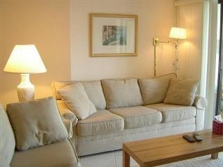 Comfortable Couch & Living Area - Views of the pool and bay from this top floor condo - Marco Island - rentals