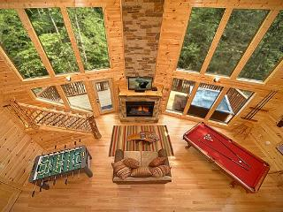 2 Bedroom Luxury Cabin with 28 Foot Ceilings and 18 foot Rain Tower Shower - Gatlinburg vacation rentals