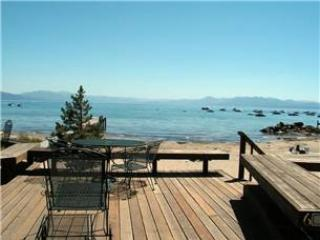 Tahoe Vista lakeview cottage, slps 6, steps to beach - Image 1 - Tahoe Vista - rentals