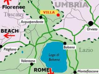 Villa Rental Walking Distance to Town of Torre Alfina  - Villa del Castello - Acquapendente vacation rentals