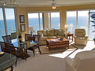 Large 3 Bedroom Vacation Home with Gulf Front Views at Tidewater - Image 1 - Panama City Beach - rentals