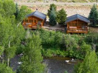 Premium 2 BR Cabin on Taylor River With Private Hot Tub at Three Rivers Resort in Almont (#21) - Image 1 - Almont - rentals