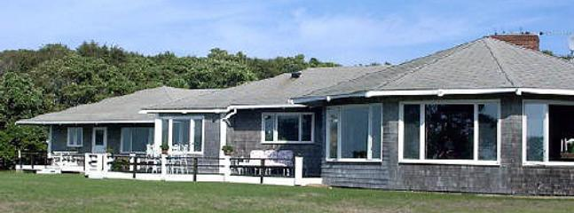 1326 - PRIVATE BEACHFRONT HOUSE WITH PANORAMIC VIEWS OF VINEYARD SOUND - Image 1 - West Tisbury - rentals