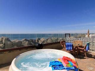 Oceanfront rental with 4br/4ba, private spa, ocean patio, bbq, A/C Equipped - Oceanside vacation rentals