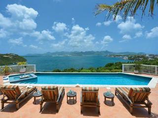 Spectacular Simpson Bay, Marigot and Ocean views from all parts of this villa. C TRG - Pelican Key vacation rentals