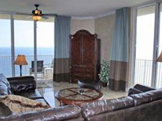Large Vacation Home with Gulfside Balcony at Tidewater Beach Condos - Image 1 - Panama City Beach - rentals