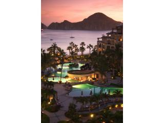 Sunset view from Villa 1707 - Villa La Estancia Upgraded High Floor 2Bdrm ON BEA - Cabo San Lucas - rentals