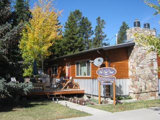 Blue Cloud House - front view - SNOW! Book Now for Rendezvous Ski Race & all new EXPO! Close to the trails - West Yellowstone - rentals