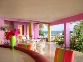 Covered Veranda - RAINBOW POINT-OCEAN FRONT WITH EXQUISITE VIEWS - Treasure Beach - rentals