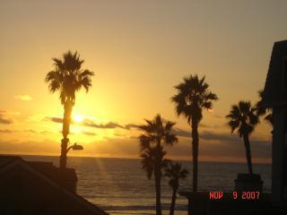 Balcony sunset view - Deluxe Ocean View Condo - Oceanside - rentals