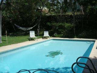 back garden and pool - TUTU'S BEACH HOUSE... LARGE HOME WITH PRIVATE POOL - Kailua-Kona - rentals